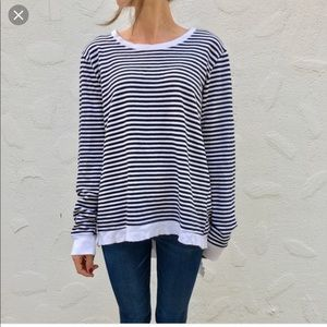 Left of Center - Anthro Striped Sweatshirt